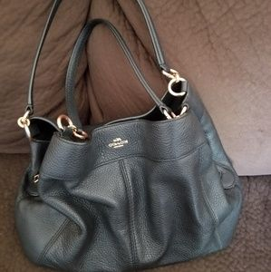 Coach Pebbled Leather Hobo